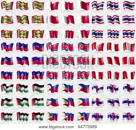 Grenada, Bahrain, Thailand, Haiti, Korea North, Peru, Palestine, Philippines, Netherlands Antilles.