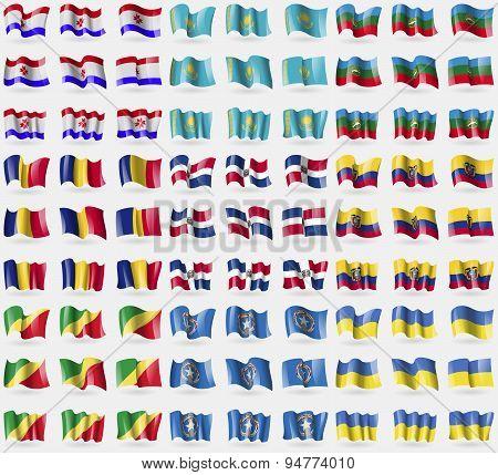 Mordovia, Kazakhstan, Karachaycherkessia, Romania, Dominican Republic, Ecuador, Congo Republic, Mari