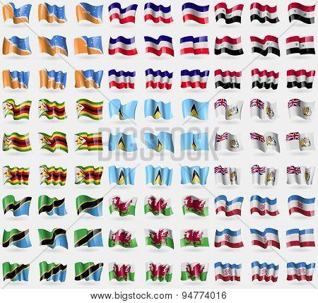 Tierra Del Fuego Province, Los Altos, Syria, Zimbabwe, Saint Lucia, British Antarctic Territory, Tan