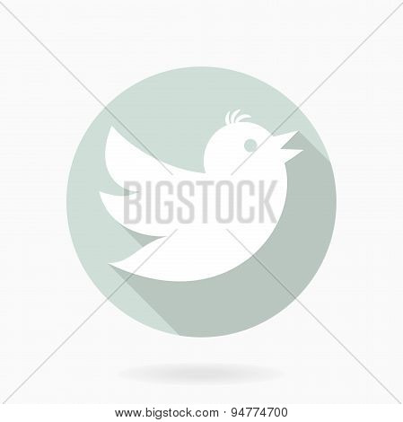 Flying Bird  Flat Icon