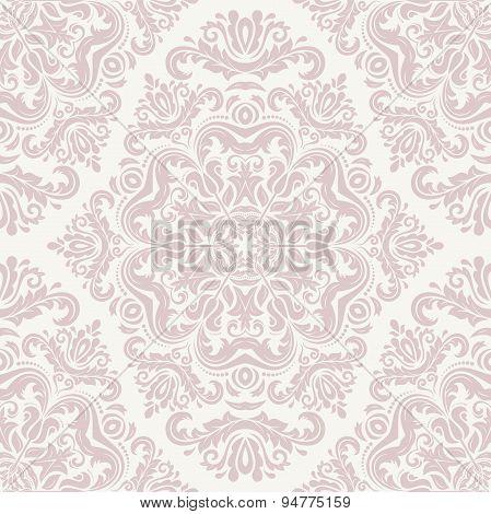 Damask Seamless  Pink Pattern