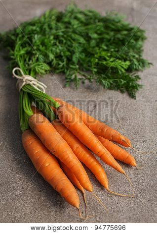 Carrot On The Stone Background