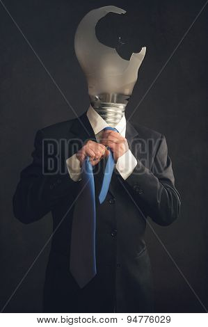 Symbol Of A Businessman With Burnout Syndrome