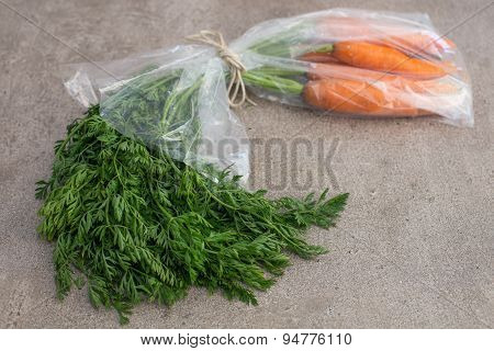 Carrot On The Stone Background  In Transparent Pack