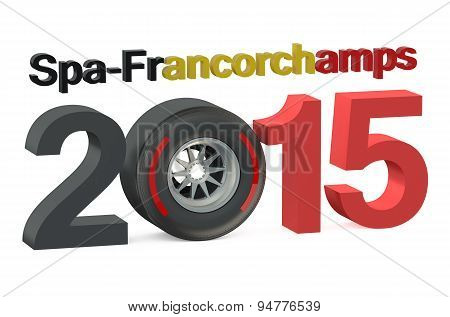 F1 Formula 1 Grand Prix In Spa-francorchamps 2015  Belgium Concept