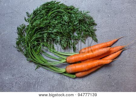 Fresh Carrot On The Stone Background