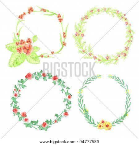 4 Floral Frames