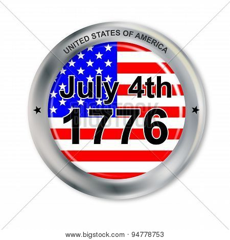 July 4 Button