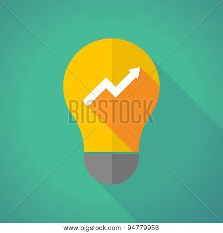 Long Shadow Light Bulb With A Graph