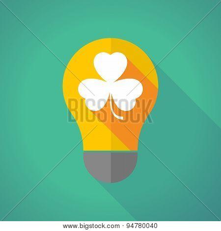 Long Shadow Light Bulb With A Clover