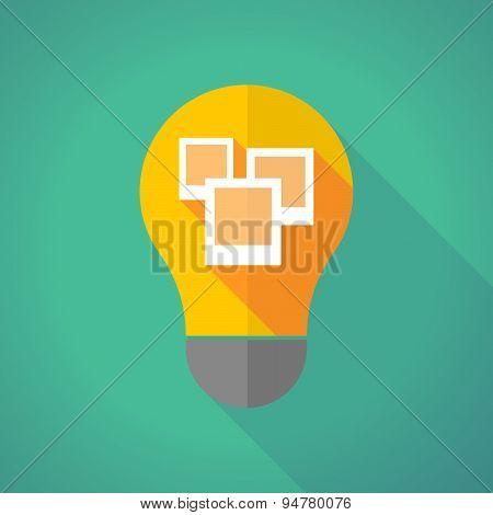 Long Shadow Light Bulb With A Few Photos