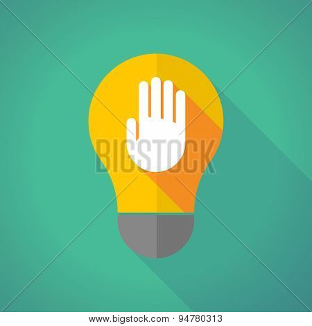 Long Shadow Light Bulb With A Hand