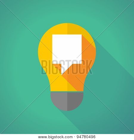 Long Shadow Light Bulb With A Tooltip