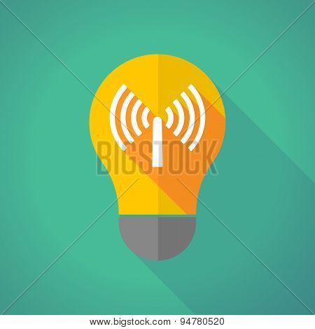 Long Shadow Light Bulb With An Antenna