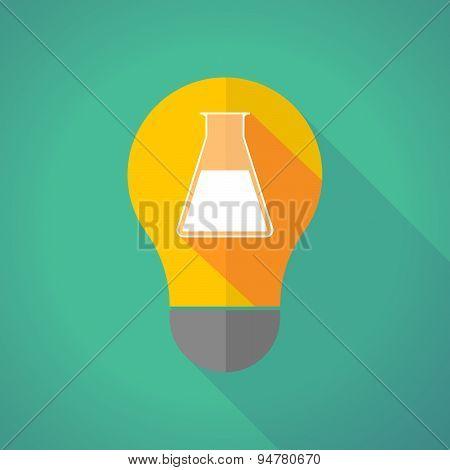 Long Shadow Light Bulb With A Light Bulb A Chemical Test Tube