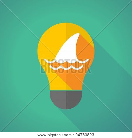 Long Shadow Light Bulb With A Shark Fin