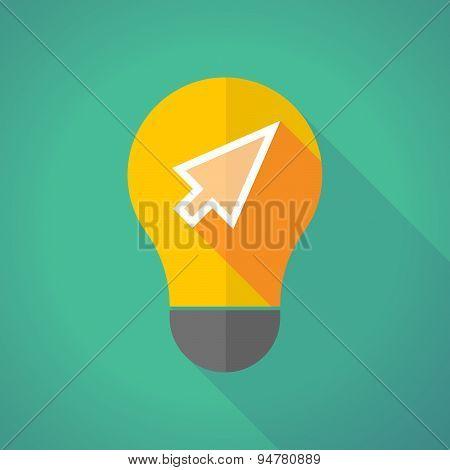 Long Shadow Light Bulb With A Cursor
