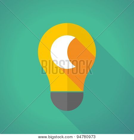 Long Shadow Light Bulb With A Moon