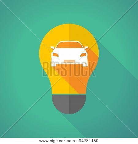 Long Shadow Light Bulb With A Car