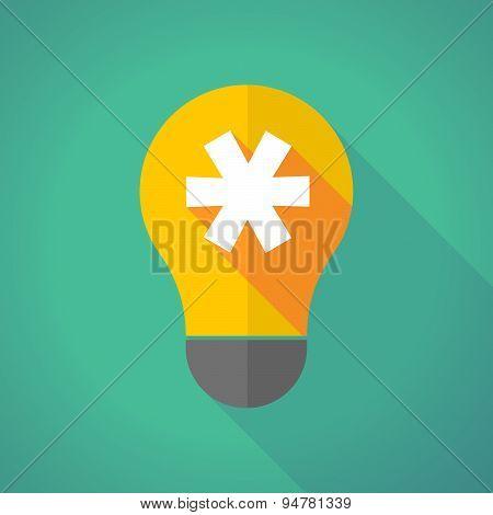 Long Shadow Light Bulb With An Asterisk