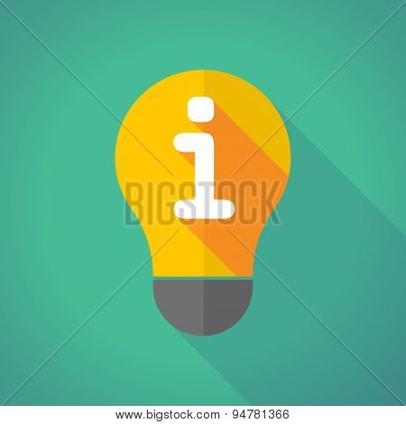 Long Shadow Light Bulb With An Info Sign