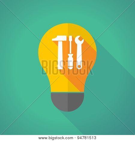 Long Shadow Light Bulb With A Tool Set
