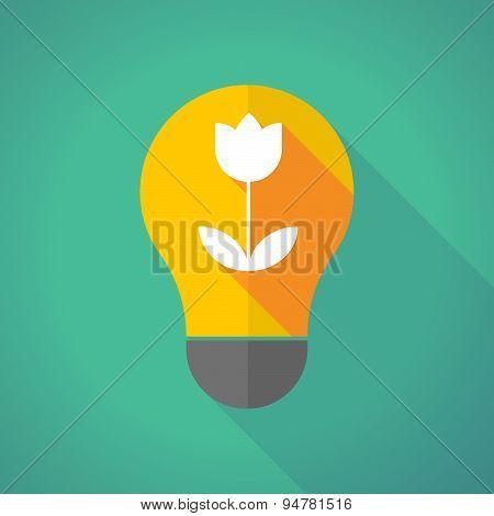 Long Shadow Light Bulb With A Tulip