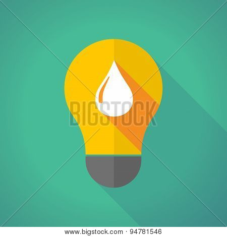 Long Shadow Light Bulb With A Fuel Drop