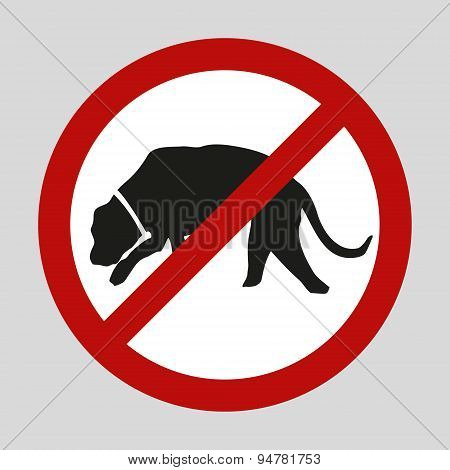 Stop Dogs And No Dogs Vector Sign Eps10