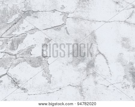 Cracked wall texture - grey concrete background