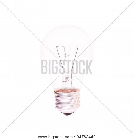 Light Bulb With Burned Spiral Inside