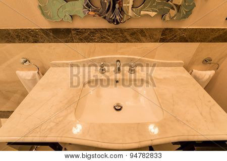 Modern elegant sink in bathroom
