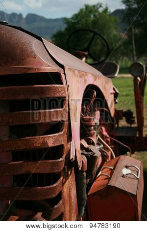 Front of old tractor
