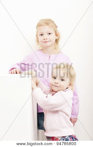 portrait of two little girls