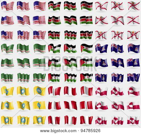 Bikini Atoll, Kenya, Jersey, Chechen Republic Of Ichkeria, Western Sahara, Cayman Islands, Kalmykia,