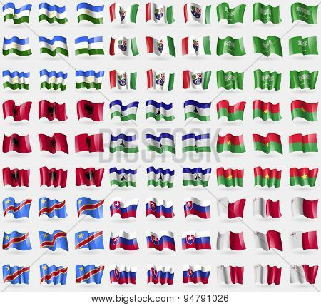 Bashkortostan, Bosnia And Herzegovina Federation, Saudi Arabia, Albania, Lesothe, Burkia Faso, Congo