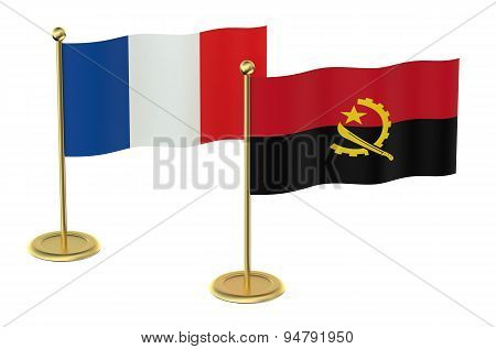 Meeting France With Angola Concept