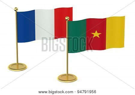 Meeting France With Cameroon Concept