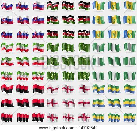 Slovakia, Kenya, Saint Vincent And Grenadines, Somaliland, Adygea, Nigeria, Upa, England, Gabon. Big