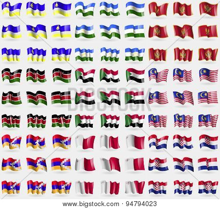Buryatia, Bashkortostan, Montenegro, Kenya, Sudan, Malaysia, Karabakh Republic, Malta, Croatia. Big