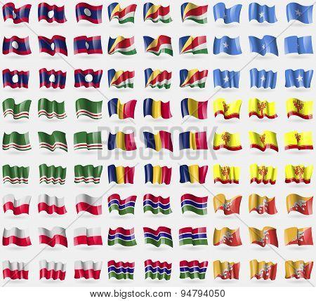 Laos, Seychelles, Somalia, Chechen Republic Of Ichkeria, Chad, Chuvashia, Poland, Gambia, Bhutan. Bi