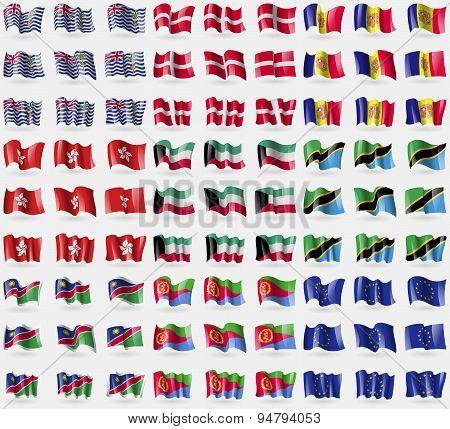 British Indian Ocean Territory, Military Order Malta, Andorra, Hong Kong, Kuwait, Tanzania, Namibia,