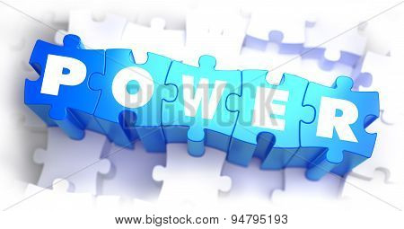 Power - Text on Blue Puzzles.
