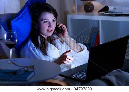 Night Talks On Phone