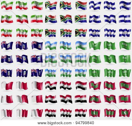 Somaliland, South Africa, El Salvador, Falkland Islands, Kabardinobalkaria, Saudi, Arabia, Malta, Sy