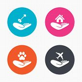 picture of dog-house  - Circle buttons - JPG