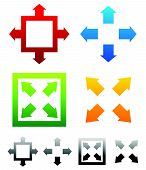picture of maxim  - Various resize maximize symbols with colors - JPG