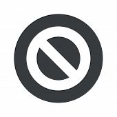 stock photo of taboo  - Image of NO sign in black circle - JPG