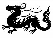 foto of dragon  - Vector sign of the dragon isolated on white background - JPG