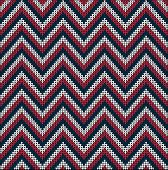 foto of knitting  - Fair Pattern sweater design on the wool knitted texture - JPG